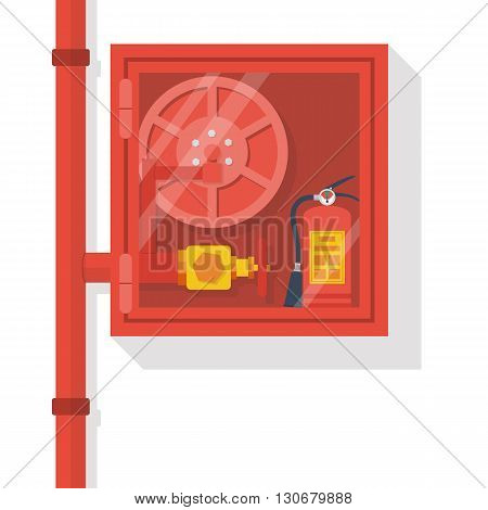 Fire Hose Cabinet Vector