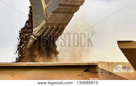 Construction Industry Excavator Closeup Built In The Usa