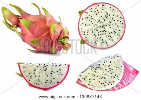 Dragon fruit, Hylocereus undatus, Family Cactaceae, Central of Thailand