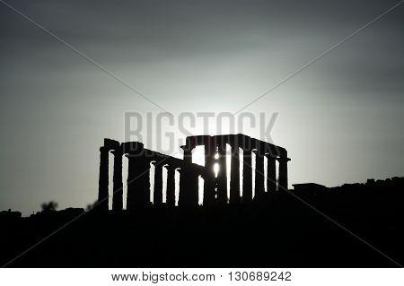 Temple At Cape Sounion, Greece