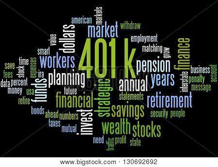 401K, Word Cloud Concept 4