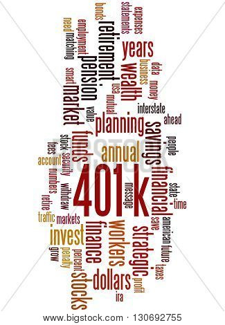 401K, Word Cloud Concept 7