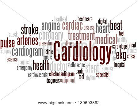 Cardiology, Word Cloud Concept