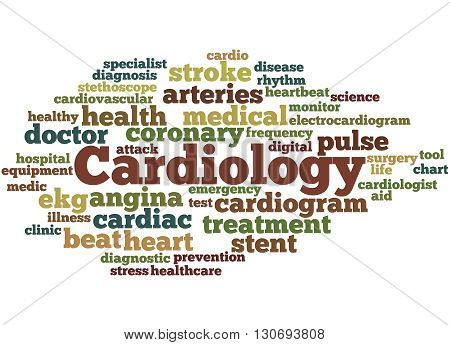 Cardiology, Word Cloud Concept 7