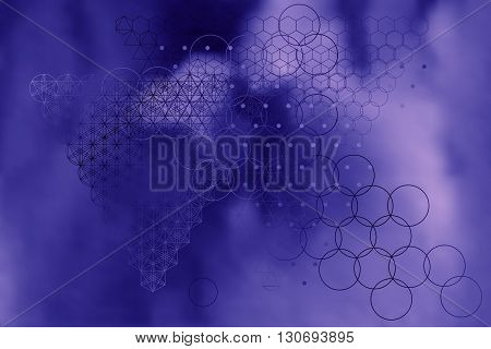 Sacred Geometry Symbols And Elements Background.
