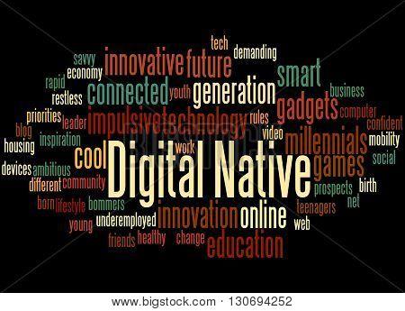 Digital Native, Word Cloud Concept 5