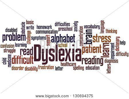 Dyslexia, Word Cloud Concept 7