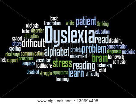 Dyslexia, Word Cloud Concept 9