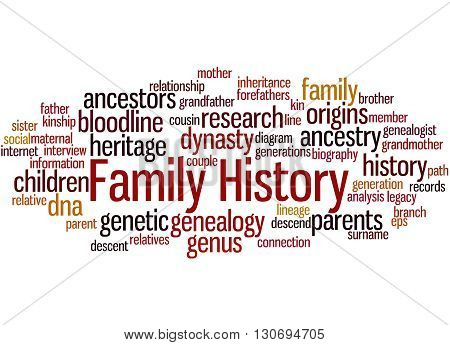 Family History, Word Cloud Concept 9