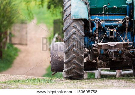 agrimotor close up at the farm in summer