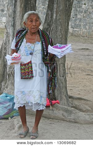Mayan peddler woman