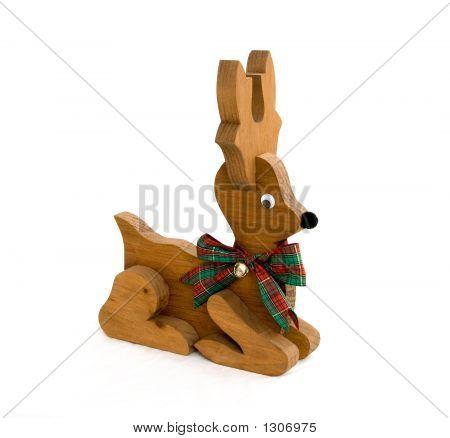 Wood Black Nosed Reindeer