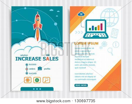 Project Increase Sales Concepts And Set Of Banners.