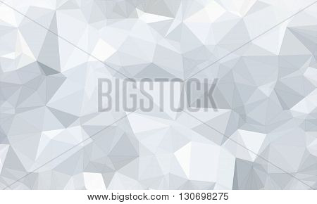 Low poly background design in geometric pattern. polygon wallpaper in origami style. polygonal texture illustration in color white and light gray