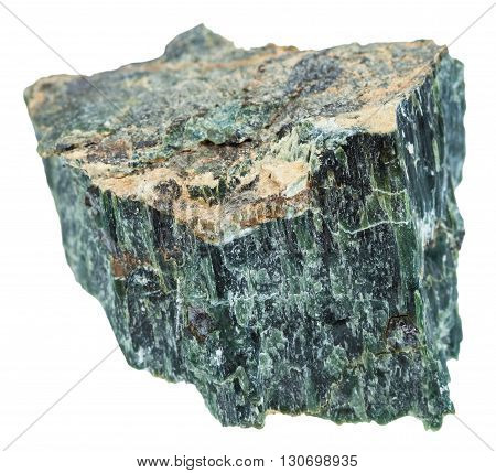 Rock Of Chrysotile (green Asbestos) Isolated