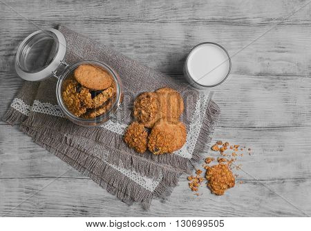 Oat Cookies Food Photo