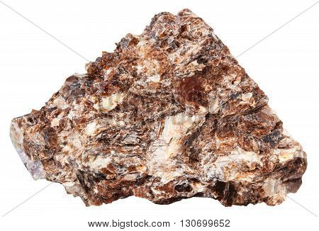 Rock Of Phlogopite (magnesium Mica) Isolated
