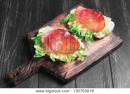 Two Sandwiches Food Photo