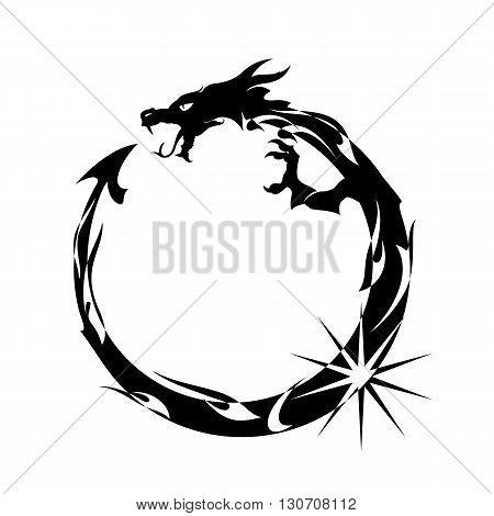 Ouroboros Black Dragon Eating its Own Tail