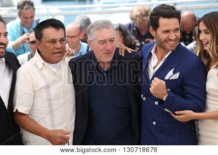Roberto Duran, Robert De Niro, Edgar Ramirez, Ana de Armas  at the photocall for Hands Of Stone at the 69th Festival de Cannes. May 16, 2016  Cannes, France