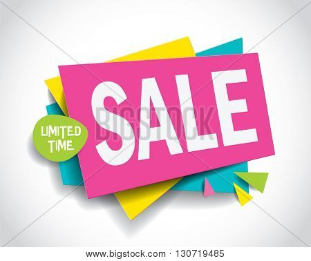 Sale concept vector banner. Super sale layout design. Vector illustration.