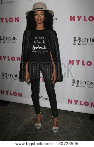 LOS ANGELES - MAY 12:  Skai Jackson at the NYLON Young Hollywood May Issue Event at HYDE Sunset on May 12, 2016 in Los Angeles, CA