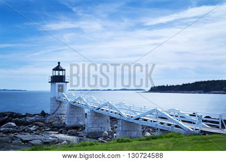 Marshall Point Light as seen in Port Clyde, Maine