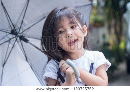 Thai Girl Hold Umbrella