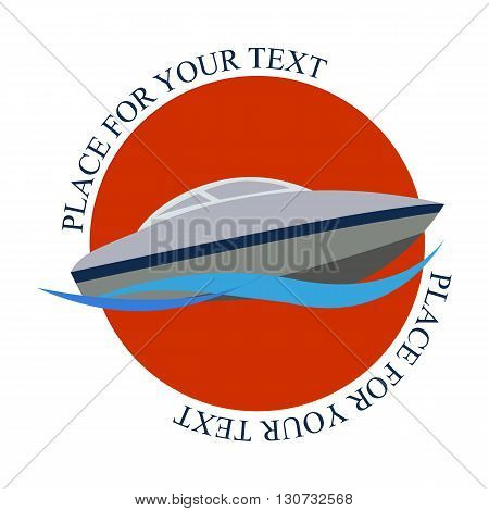 Vector illustration of the sea boat logo
