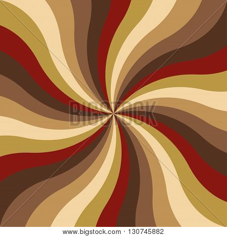 Abstract radial multicolored spiral stripes, vector illustration