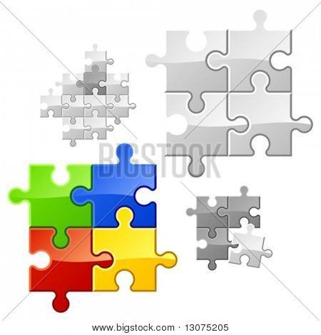 Puzzle. Vector. You may easy duplicate parts for expansion.
