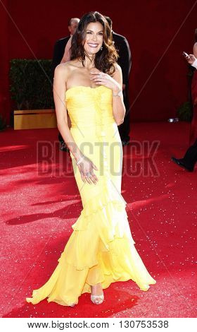 Teri Hatcher at the 60th Primetime Emmy Awards held at the Nokia Theater in Los Angeles, USA on September 21, 2008.