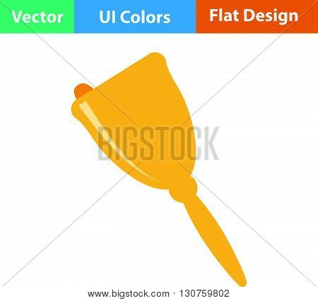 Flat Design Icon Of School Hand Bell