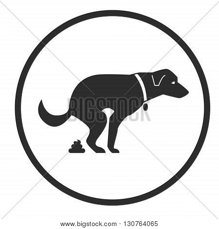 Dog poop sign. Shitting is allowed. Poo poo. Vector stock illustration