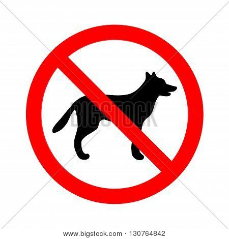 No dogs allowed sign on white background