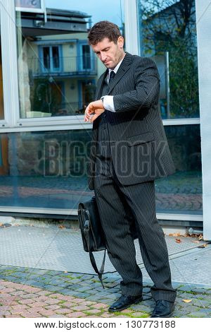 Businessman Looking For Time