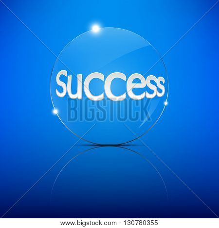 Success word Focus Convex Len Vector Illustration