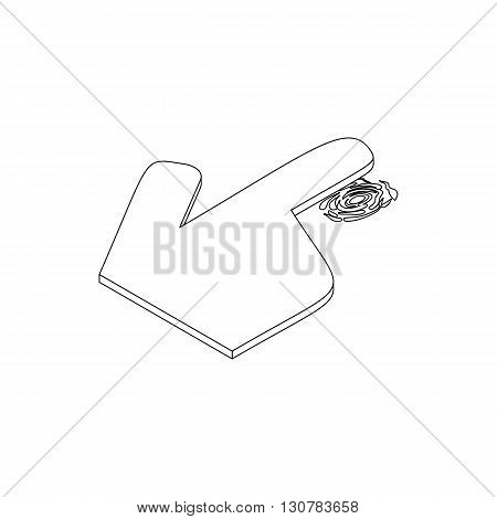 Getting thumb print icon in isometric 3d style on a white background