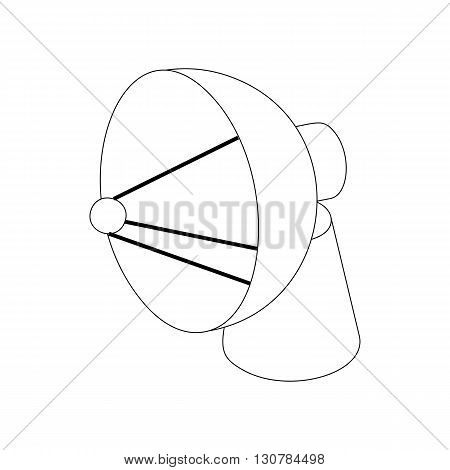 Satellite dish antenna radar icon in isometric 3d style on a white background