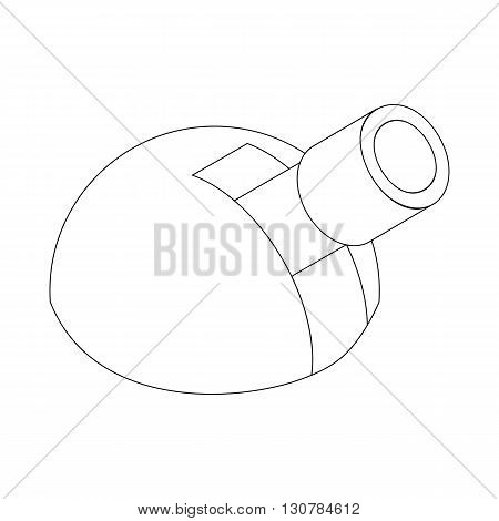 Astronomical observatory icon in isometric 3d style on a white background