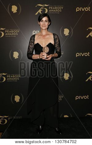 NEW YORK-MAY 21: Carrie-Anne Moss attends the 75th Annual Peabody Awards Ceremony at Cipriani Wall Street on May 21, 2016 in New York City.