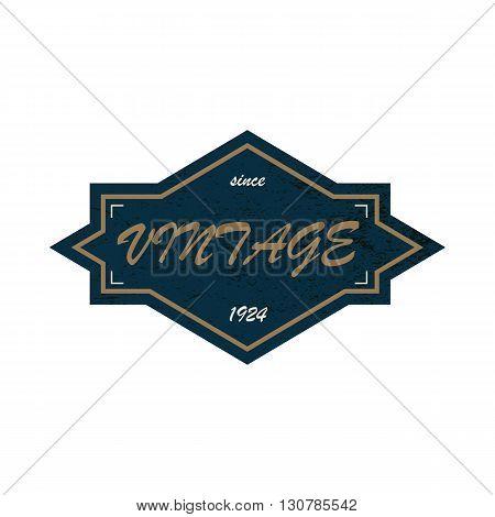 Black vintage since 1924 label on a white background