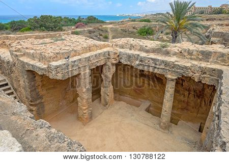 Tombs of the Kings archaeological museum in Paphos on Cyprus