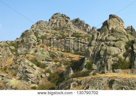 Macedonia spectacular rock formations of Zlatov Vrv mountain around Treskavec monastery Prilep region