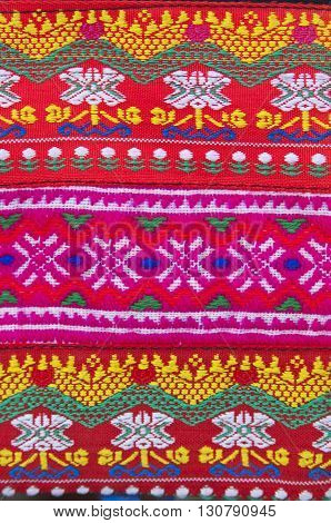 Tradition handwork fabric of hill tribe at northern of Thailand