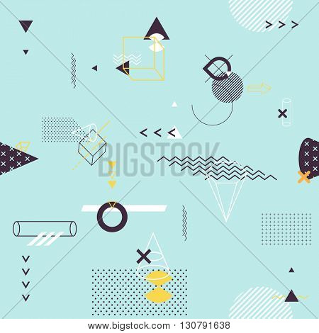 Seamless background of geometric elements
