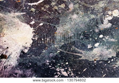 abstract painting with blurry and stained structure. Color effect and Computer collage