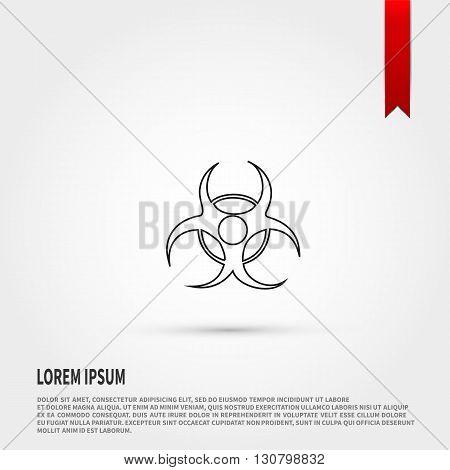 Biohazard Icon. Biohazard symbol. Danger concept. Flat design style. Template for design.