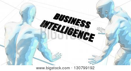 Business Intelligence Discussion and Business Meeting Concept Art 3d Illustration Render