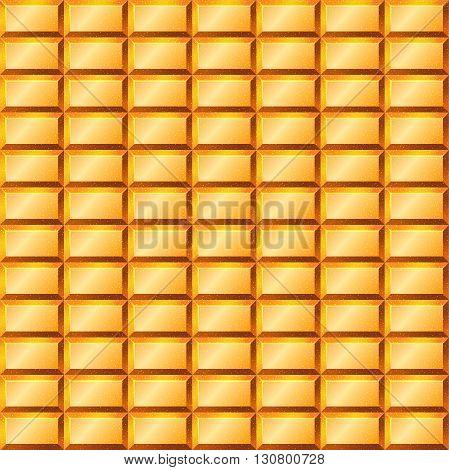 Seamless texture with gold bullion. Vector illustration